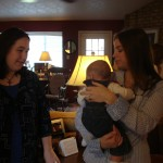 My friend Leslie, Leslie's baby Josephine, and my cousin Laura