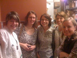 Julie, Kelly (her first time), Me, Shannon, and Kristin