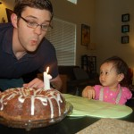 What is Daddy doing to my cake?