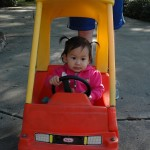 Driving around, she even made her own motor sounds.