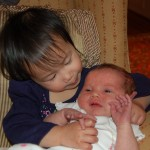 Being a sweet big cousin