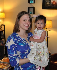 Mommy and Elise, Easter morning