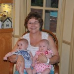 Mamaw and her youngest grandbabies, Vivian (left) and Olive (right)