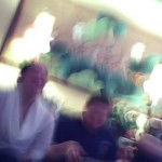 Blurry Erin and Uncle Johnny