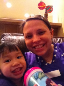 Cheering on the Horned Frogs
