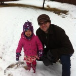 Dad and Elise in the snow