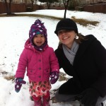 Mom and Elise in the snow