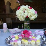Pretty flowers and cupcakes