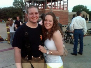 My brother, Johnny, and future sister-in-law, Erin