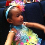 Waiting her turn at dress rehearsal