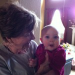 Playing with Great Aunt Sandra