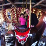 Having fun on the carousel