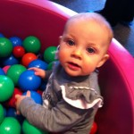 Playing in the ball pit at the Children's Museum