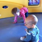 Vivian and Maggie playing at the museum