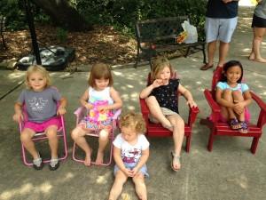 The girls minus baby Judith