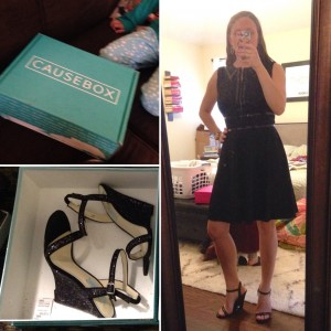 A little fun for me - My first CauseBox and finding a pair of heels for $16 for my cousin's wedding