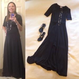 Black LuLaRoe Ana Maxi Dress, black sandals